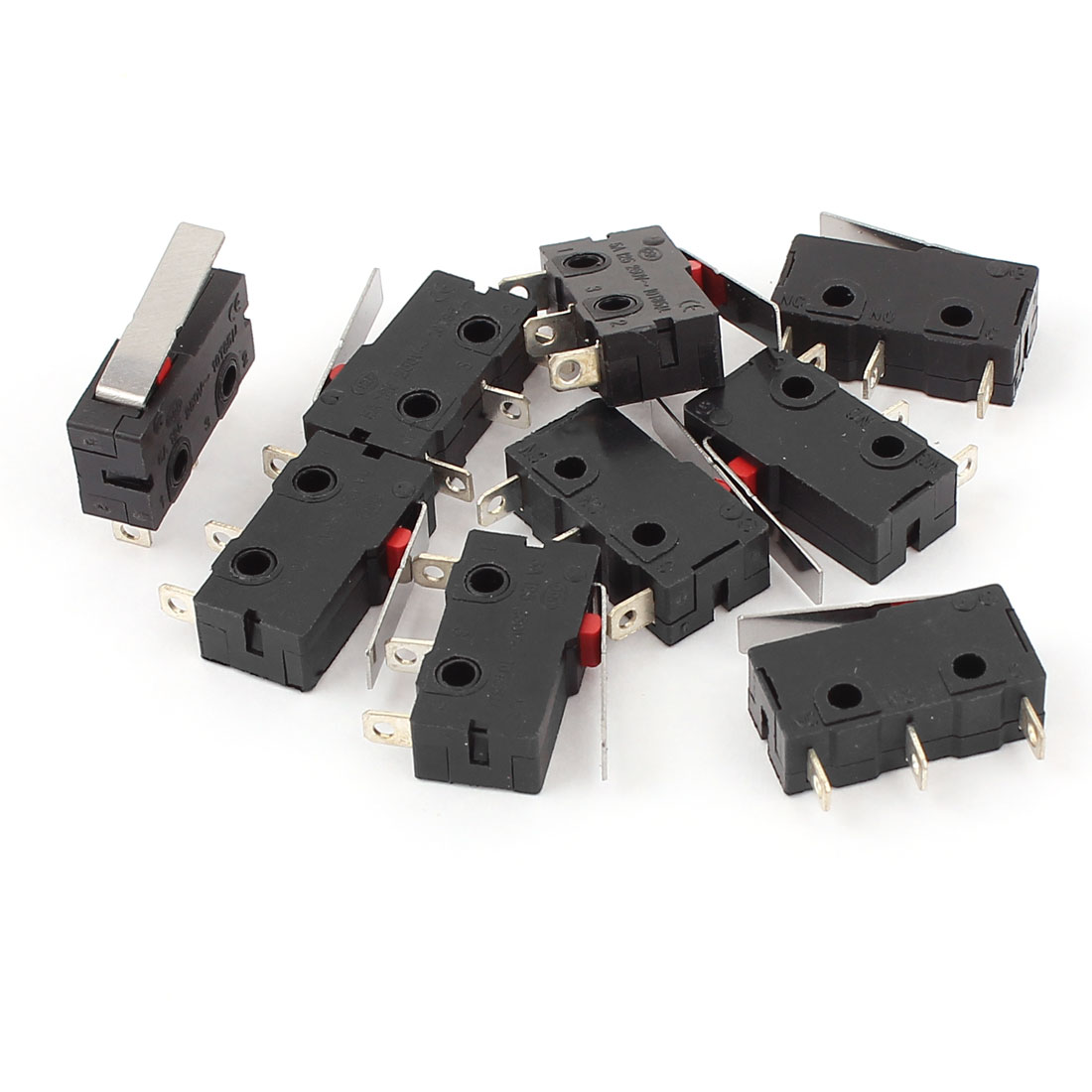 9 Pcs AC 125V/250V 5A SPDT 1NO 1NC 3 Terminals Hinge Lever Momentary Control Mini Micro Limit Switch