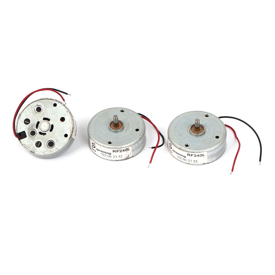 2 Pcs DC 1.5-4.5V 3200RPM 10x24mm Electric Mini Motor for CD DVD Player