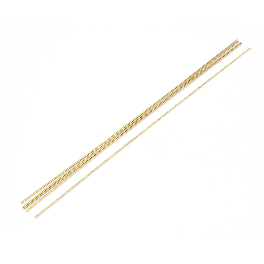 5 Pcs 1.5mm Dia 300mm Length Brass Solid Round Rod Bar for DIY RC Airplane