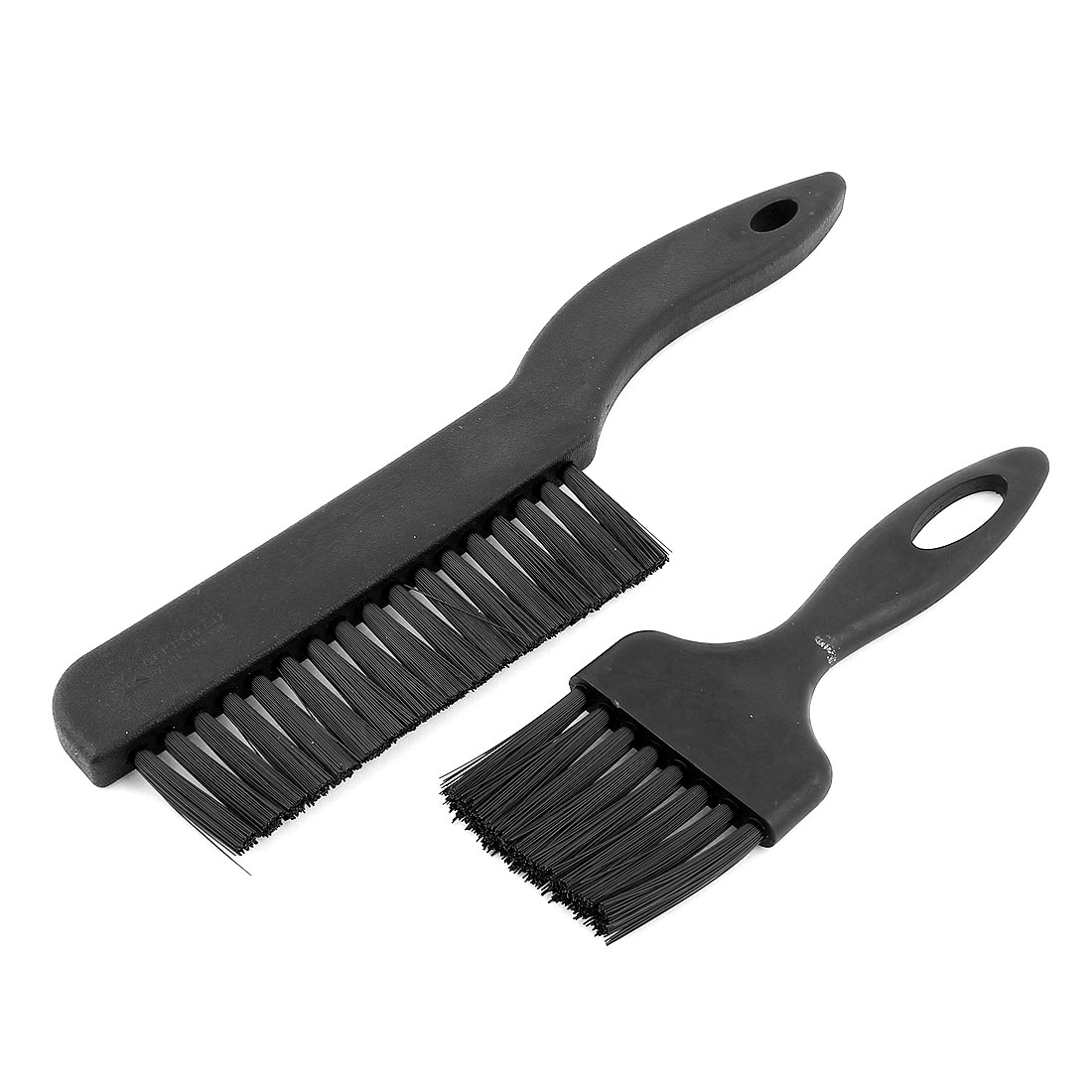 2 Pcs Black Plastic Handle Conductive Ground Motherboard ESD Anti Static Brush Comb Set