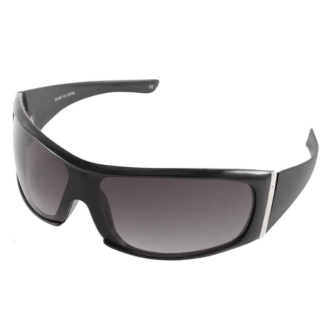 Men Wide Temple Design Sun Protective Outdoor Eyewear Sunglasses Black