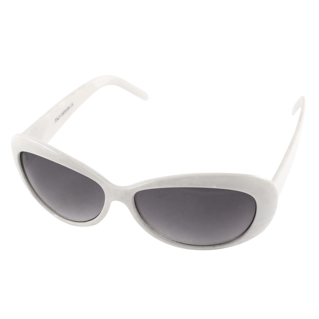 Lady Full Rim Outdoor Protective Spectacles Eyewear Sunglasses White