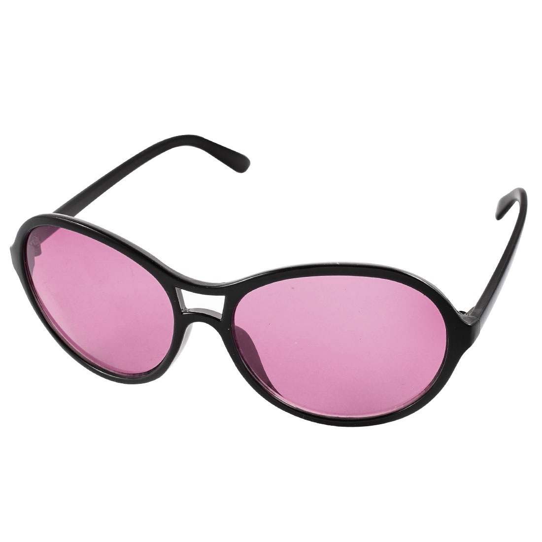 Lady Full Rim Slim Temple Outdoor Driving Eyewear Sunglasses Purple