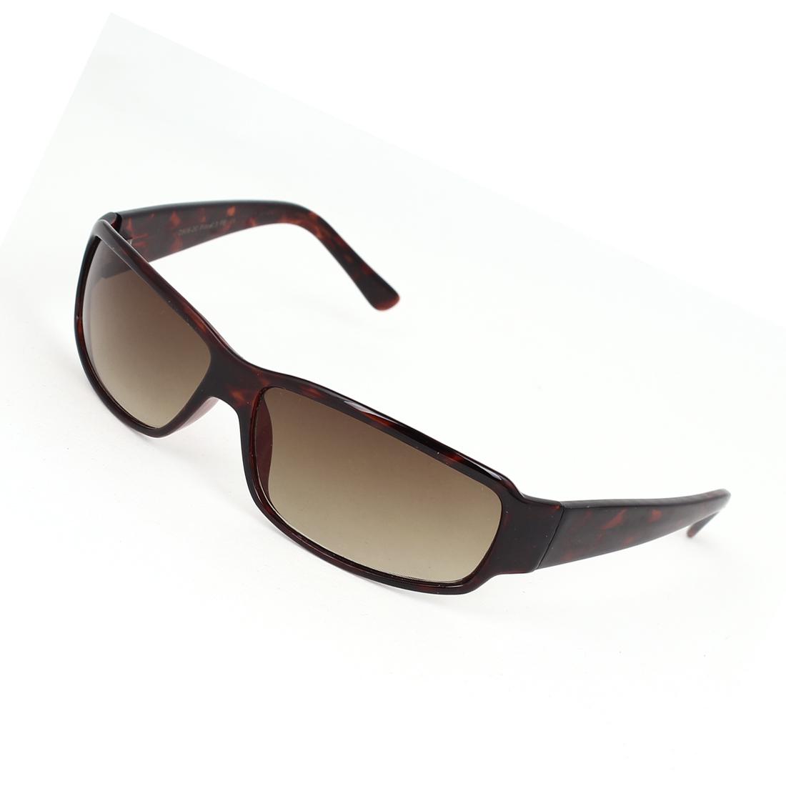 Women Plastic Full Rim Single Bridge Rectangle Lens Eyes Sunglasses