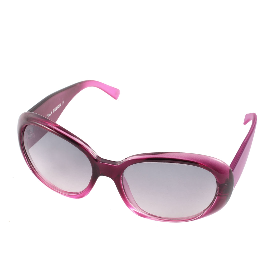 Lady Full Rim Wide Temples Outdoor Driving Eyewear Sunglasses Purple