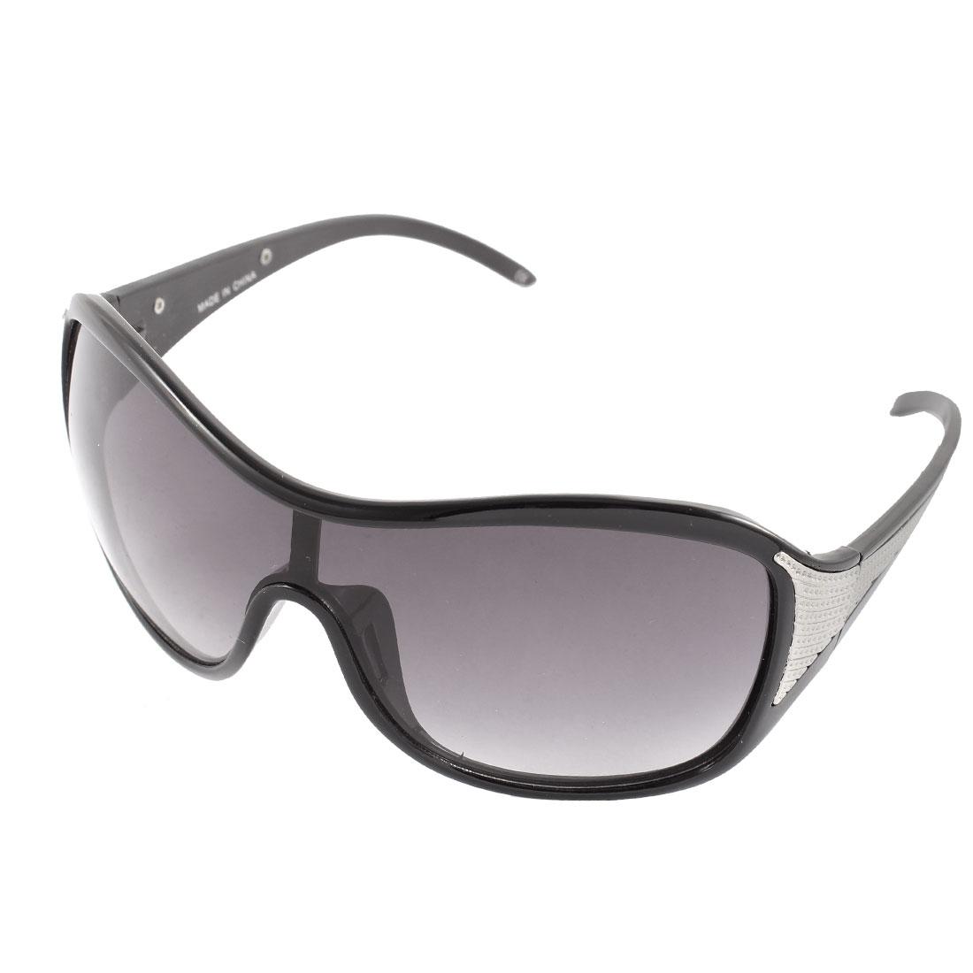 Plastic Metal Women Full Rim Sun Protection Eyewear Sunglasses Black
