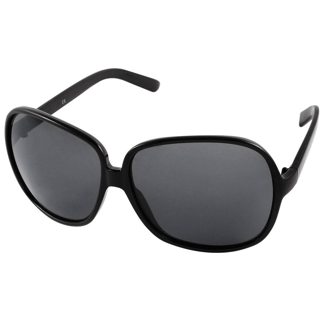 Plastic Unisex Full Frame Outdoor Driving Eyeglasses Sunglasses Black