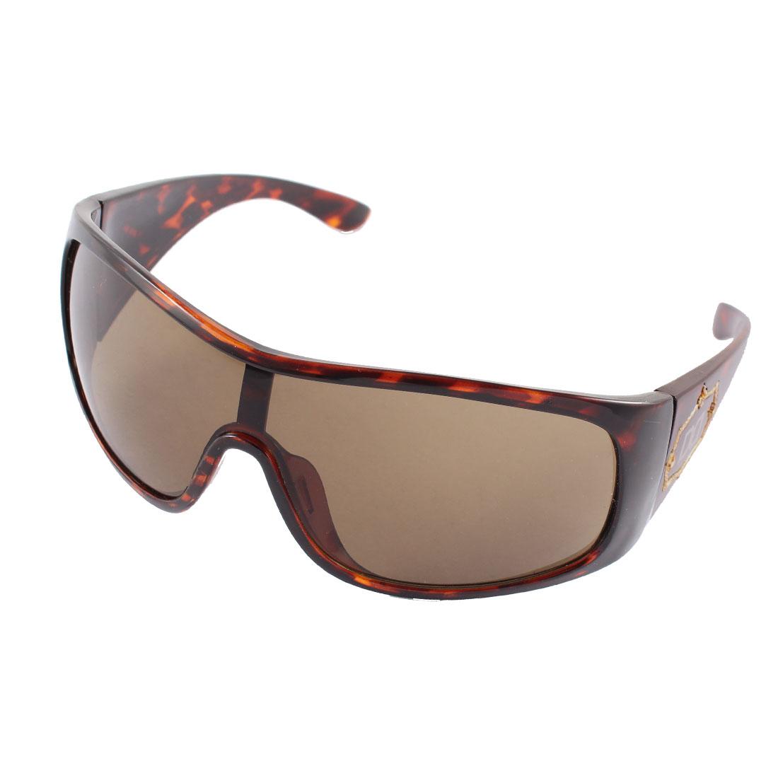 Full Rim Animal Print Women Sunglasses Outdoor Driving Eyewear Brown