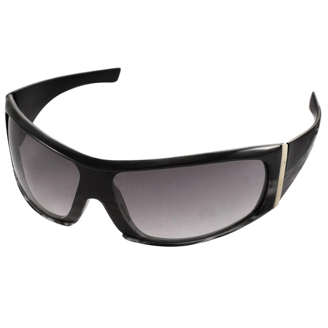 Men Full Rim Wide Temple Outdoor Sports Sunglasses Eyewear Black