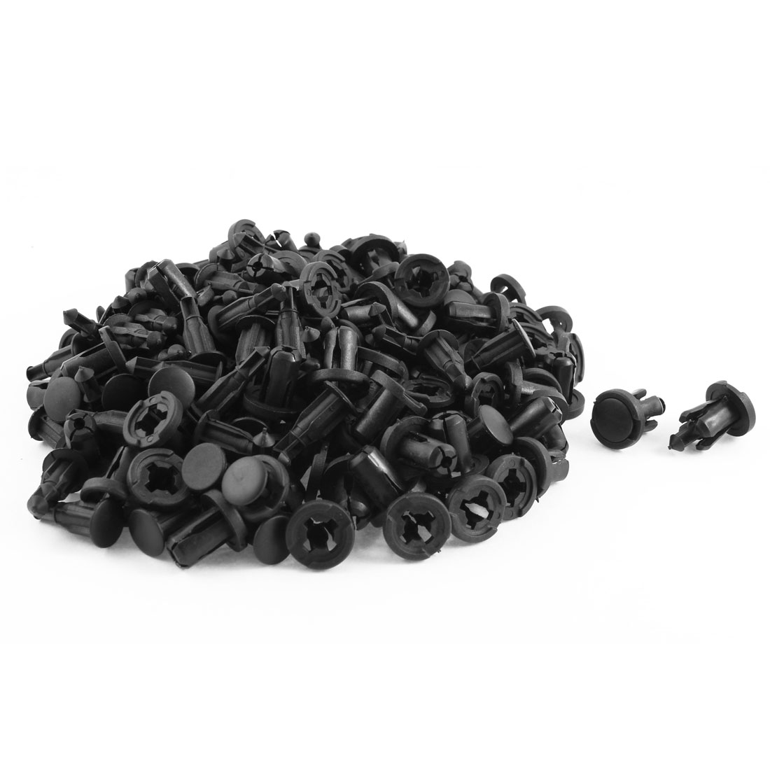 100 Pcs Black Plastic Rivet Trim Fastener Moulding Clips 10mm x 18mm x 19mm