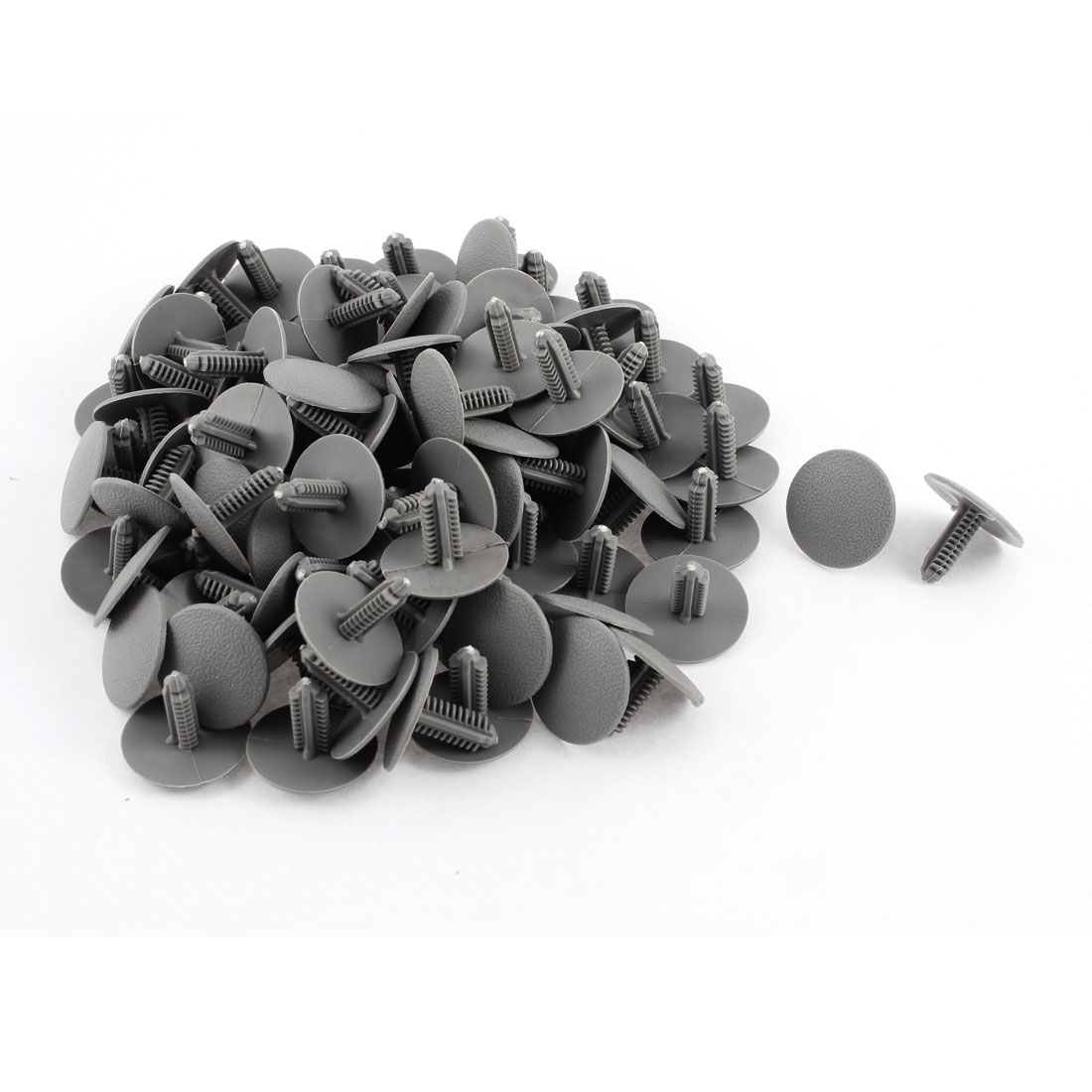 100 Pcs Gray Plastic Rivet Trim Fastener Retainer Clips 7mm x 18mm x 24mm