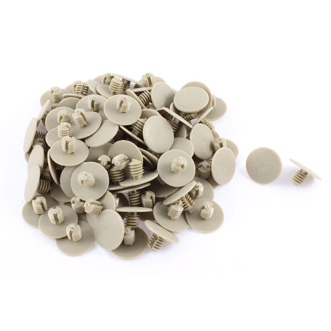 100 Pcs Gray Plastic Rivet Trim Fastener Retainer Clips 7mm x 9mm x 20mm