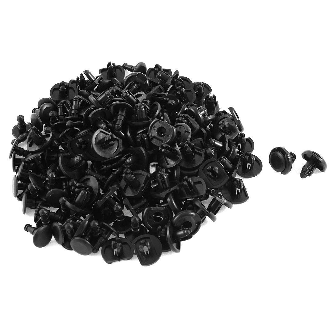 100 Pcs Black Plastic Rivet Trim Fastener Moulding Clips 7mm x 10mm x 19mm