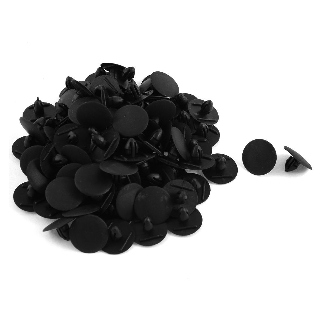 100 Pcs Black Plastic Rivet Trim Fastener Retainer Clips 9mm x 13mm x 24mm