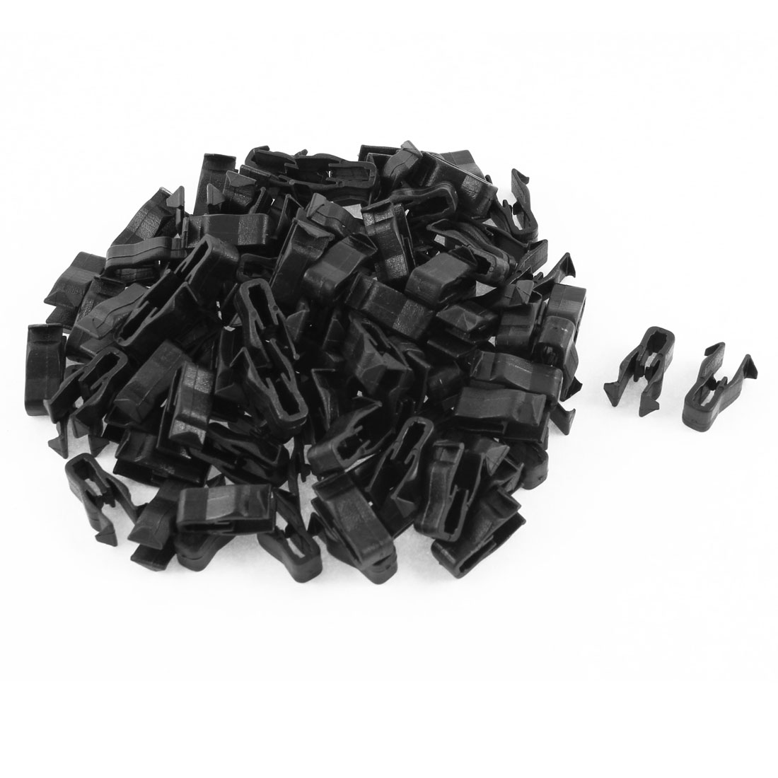 100 Pcs Black Plastic Rivet Trim Fastener Retainer Clips for 5mm Hole