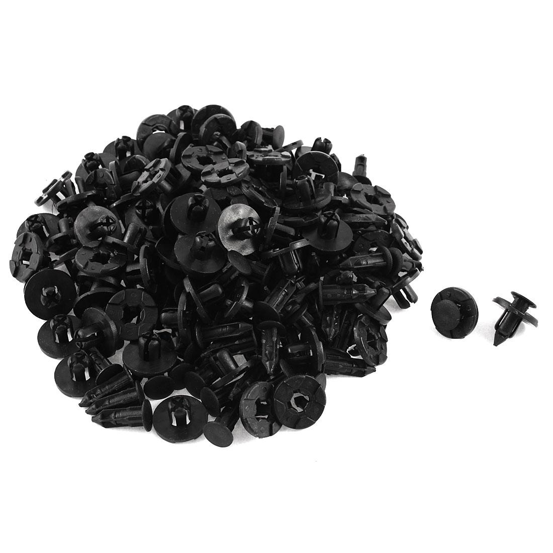 100 Pcs Black Plastic Rivet Trim Fastener Retainer Clips 8mm x 13mm x 20mm