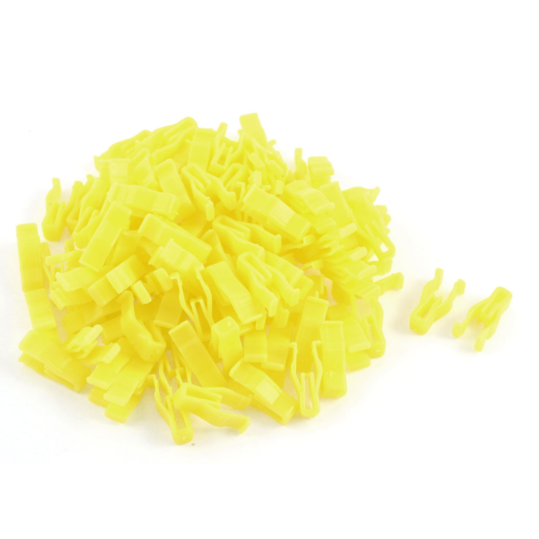 100 Pcs Yellow Plastic Rivet Trim Fastener Retainer Clips for 5mm Hole
