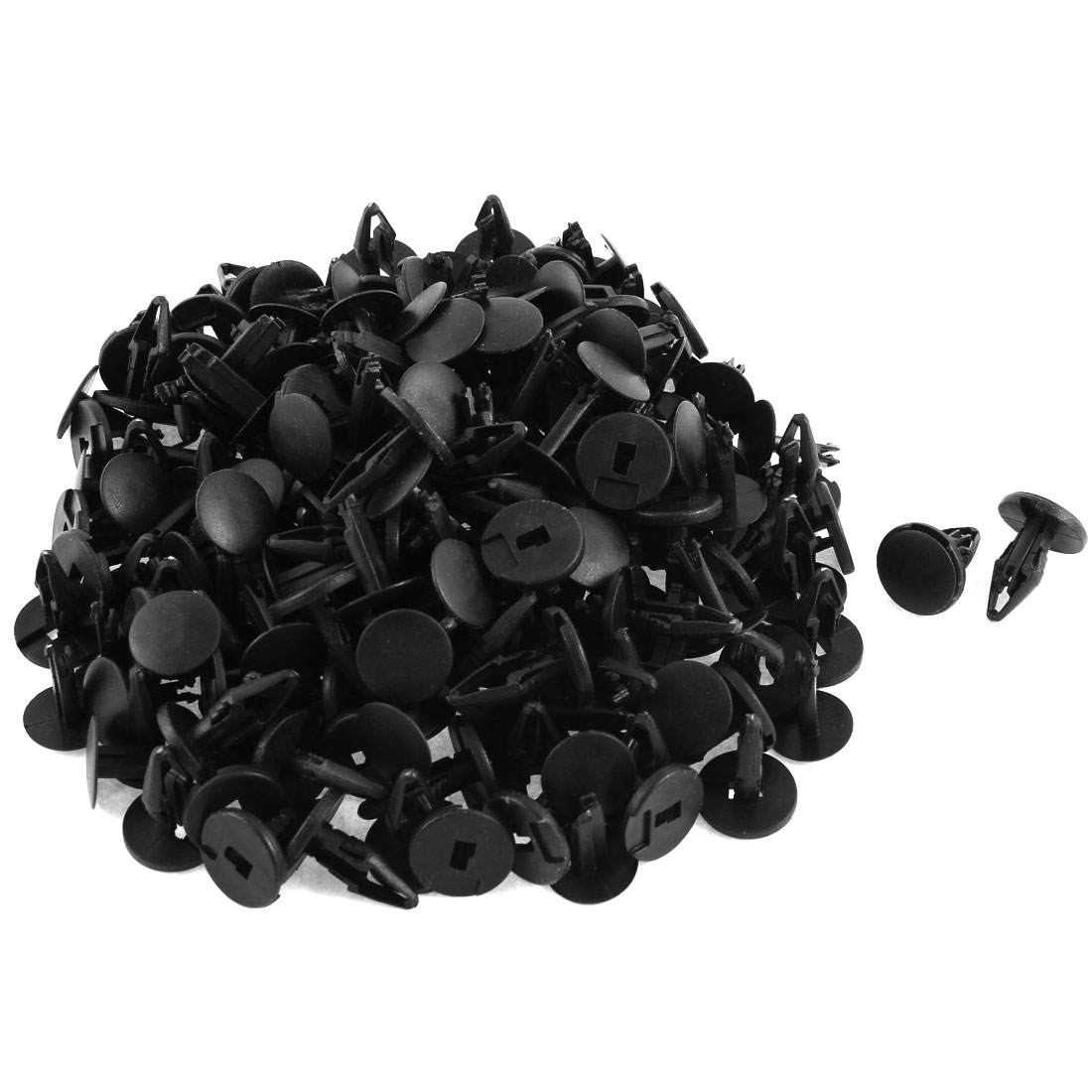100 Pcs Black Plastic Rivet Trim Fastener Moulding Clips 9mm x 17mm x 20mm