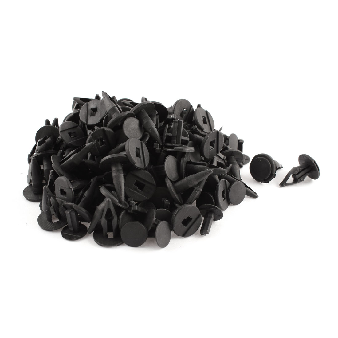 100 Pcs Black Plastic Rivet Trim Fastener Retainer Clips 10mm x 17mm x 22mm