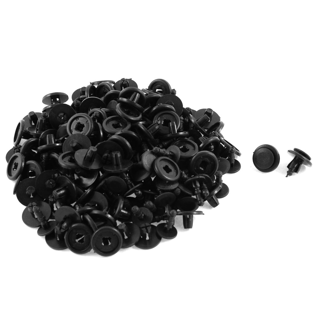 100 Pcs Black Plastic Rivet Trim Fastener Retainer Clips 8mm x 10mm x 20mm