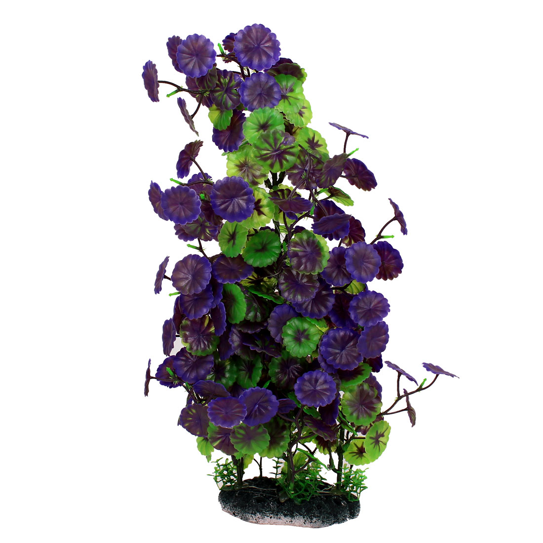 Aquarium Fish Tank Plastic Simulation Underwater Plant Decoration Green Purple 40cm High