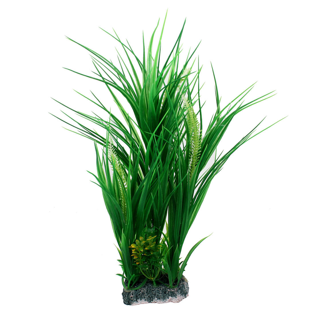 Aquarium Fish Tank Landscaping Manmade Artificial Plastic Aquatic Water Plant Green 40cm High