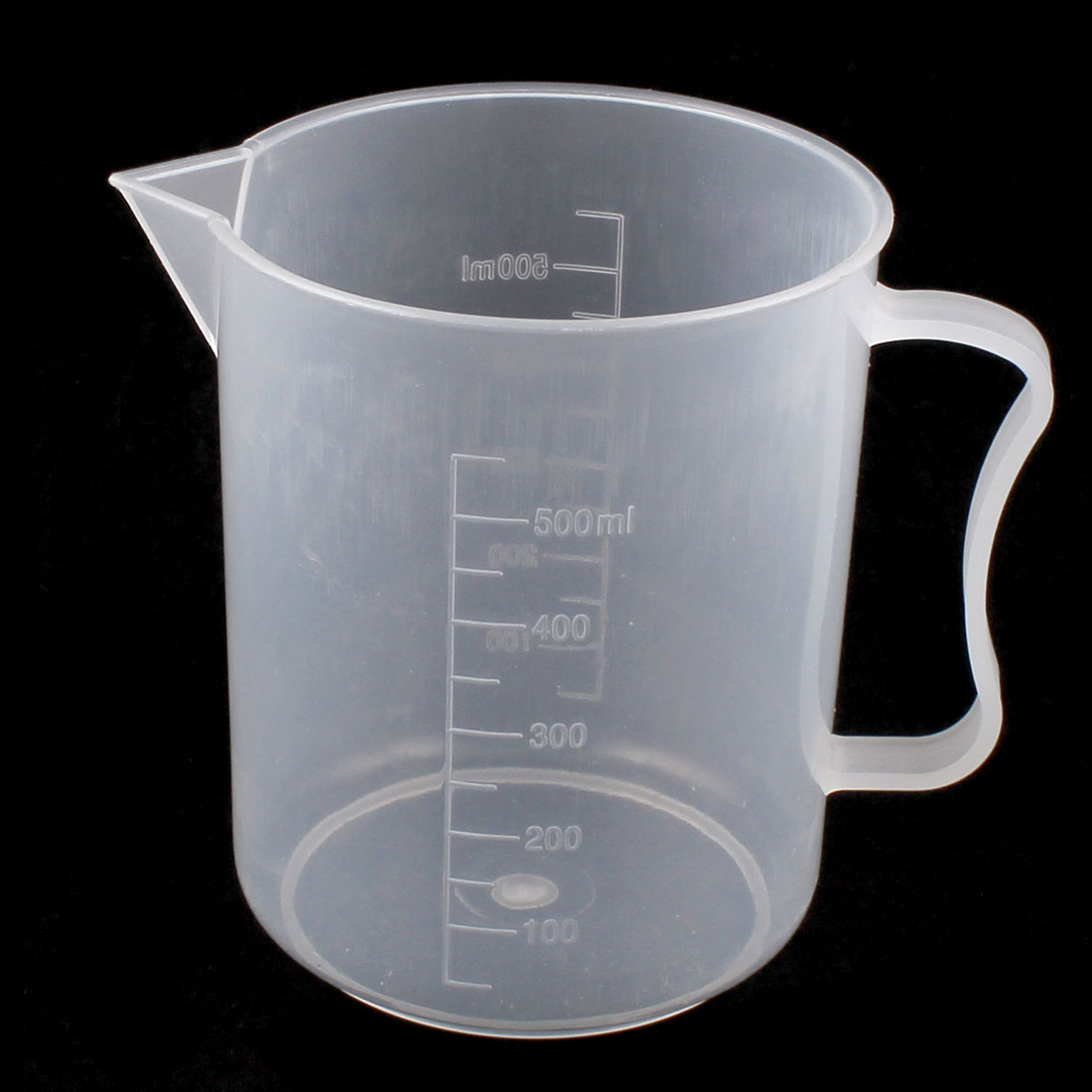 Lab Chemistry Experiment Graduated Plastic Liquid Water Testing Measuring Measure Cup 500mL
