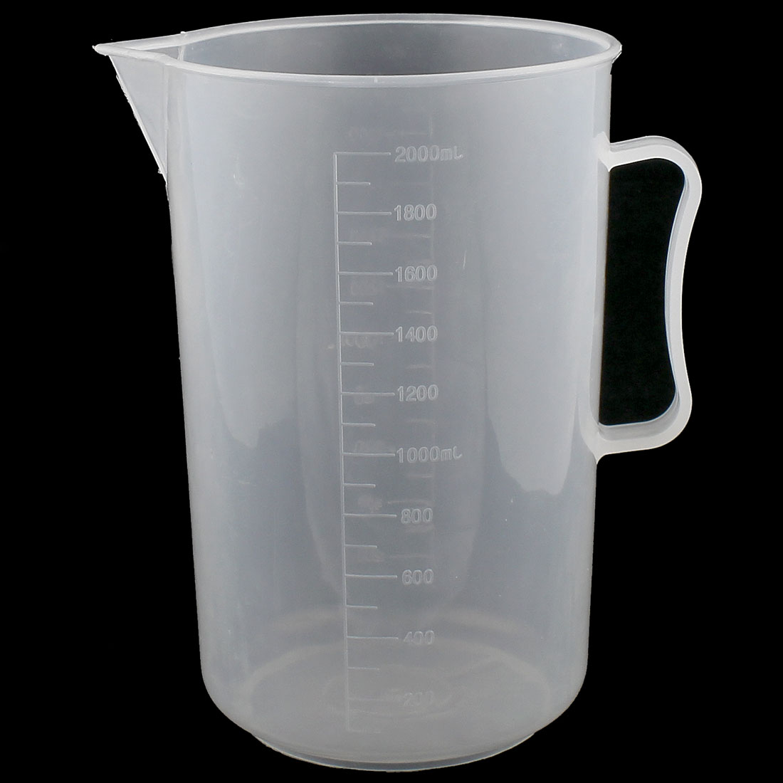 2000mL Graduated Plastic Liquid Water Testing Measuring Measure Cup for Lab Laboratory Chemistry Experiment
