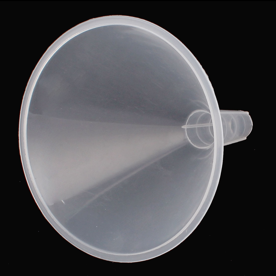 Lab Laboratory Experiment 120mm Dia Mouth Flat Tip Clear White Plastic Liquid Water Filter Funnel