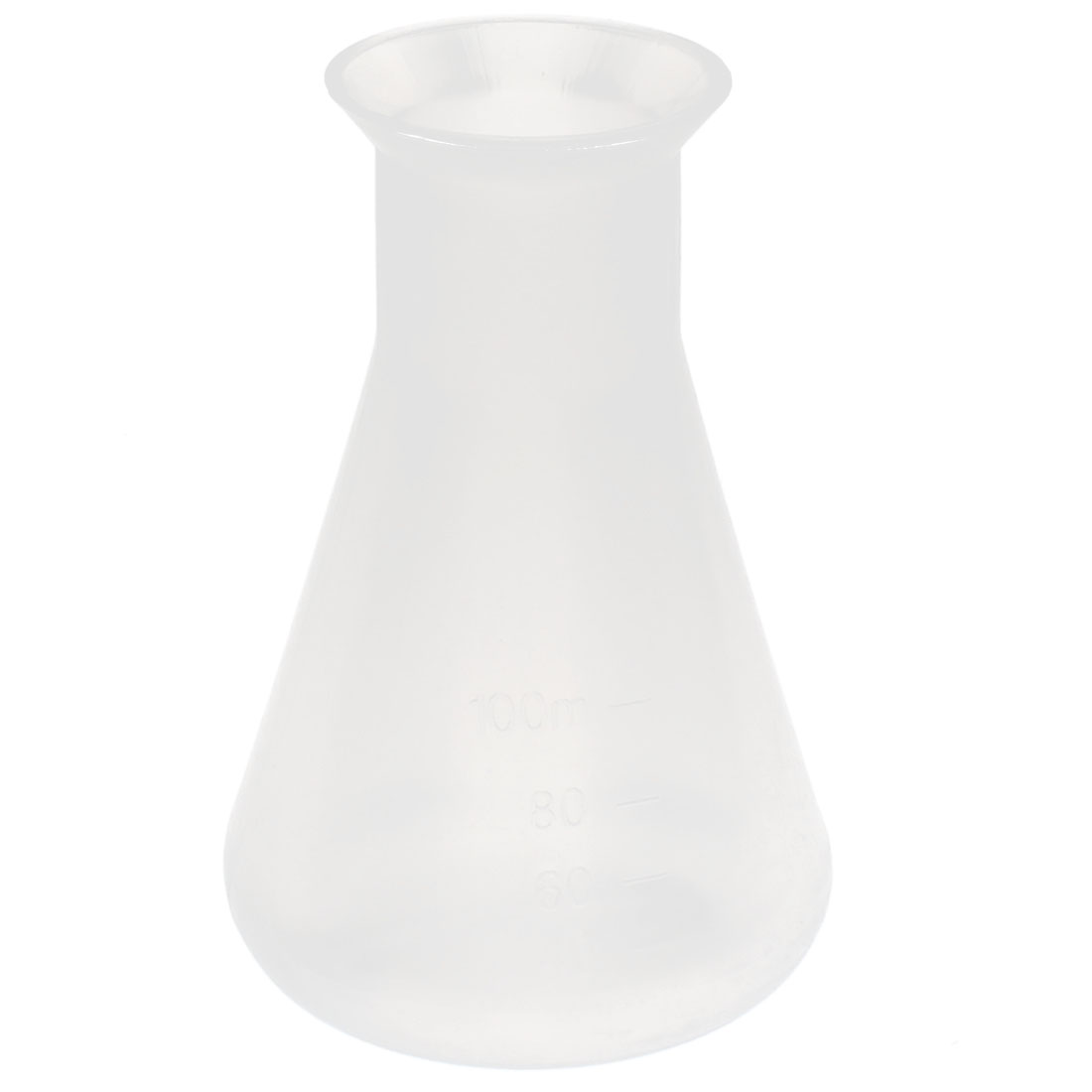 Lab Laboratory Experiment Graduated Clear Plastic Chemical Conical Flask Storage Bottle 100ml