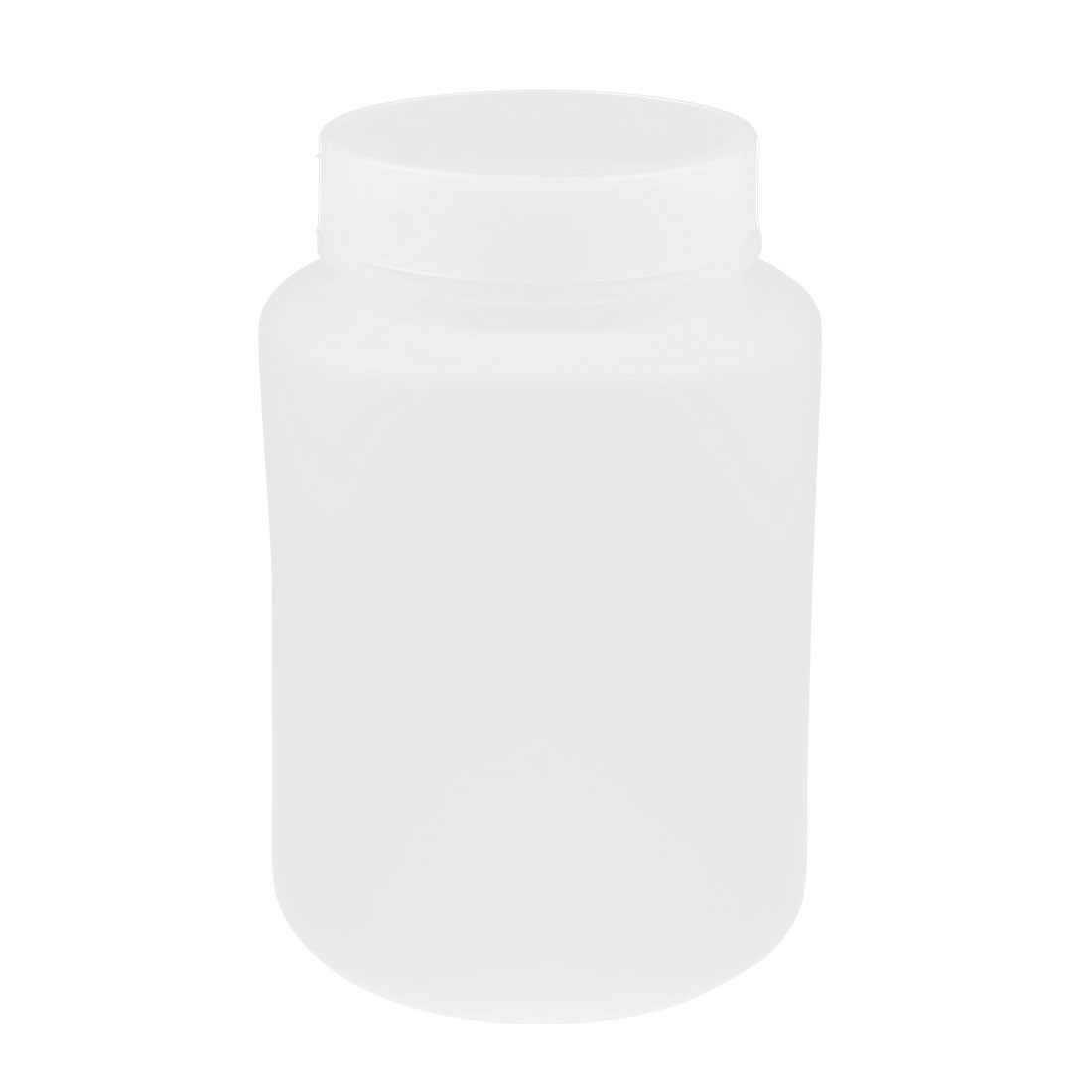 Lab Screw Lid Wide Mouth White Plastic Graduated Chemicals Storage Container Reagent Bottle 100mL
