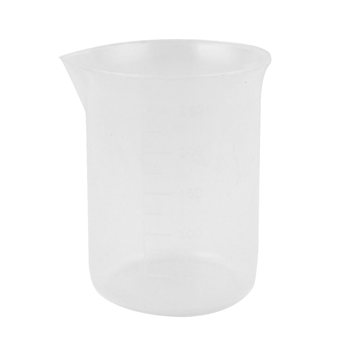 Lab Laboratory Experiment Chemistry Graduated Clear Plastic Water Liquid Measuring Container Testing Beaker 250mL