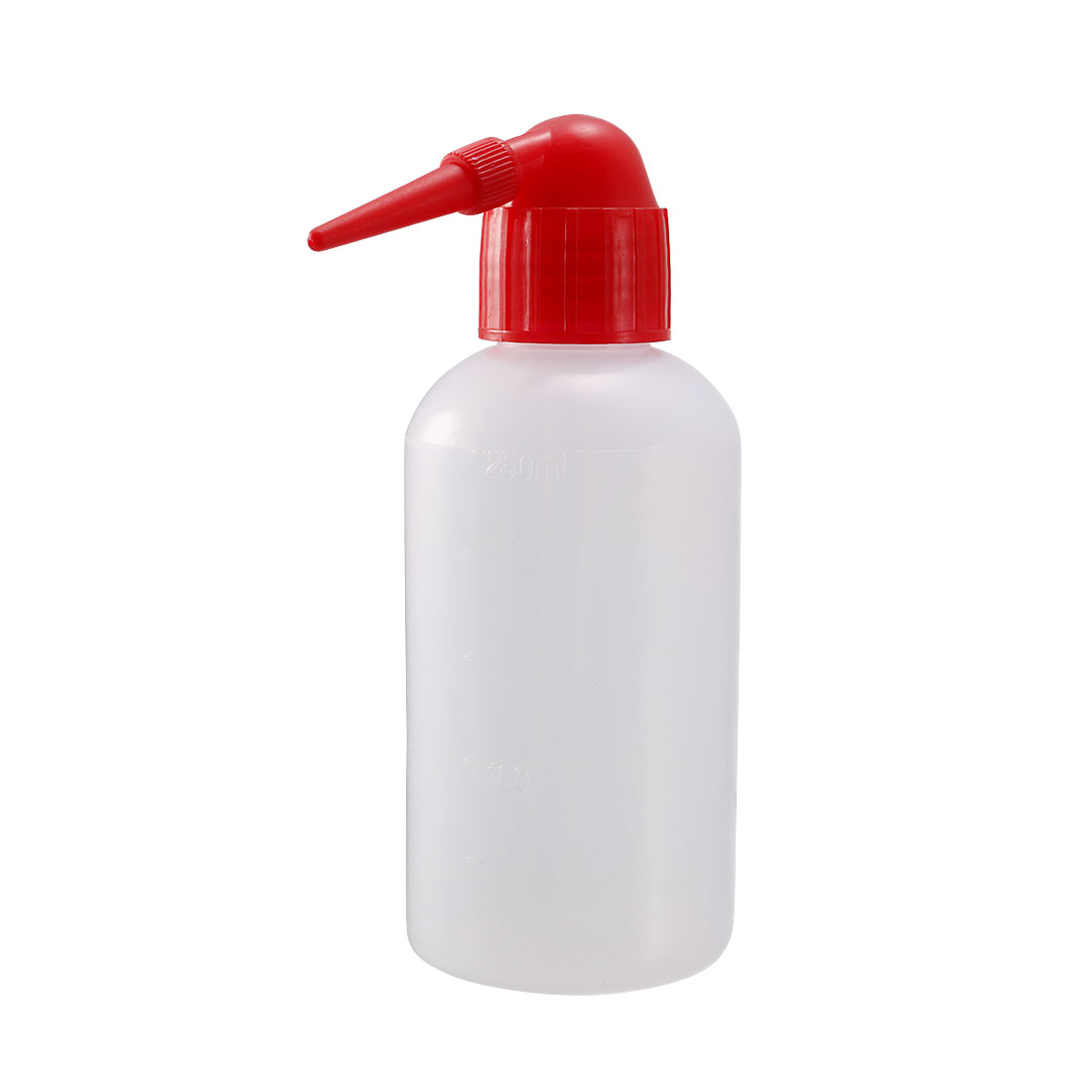 250mL Red Cover Tip Plastic Cleaning Alcohol Container Tattoo Wash Squeeze Bottle