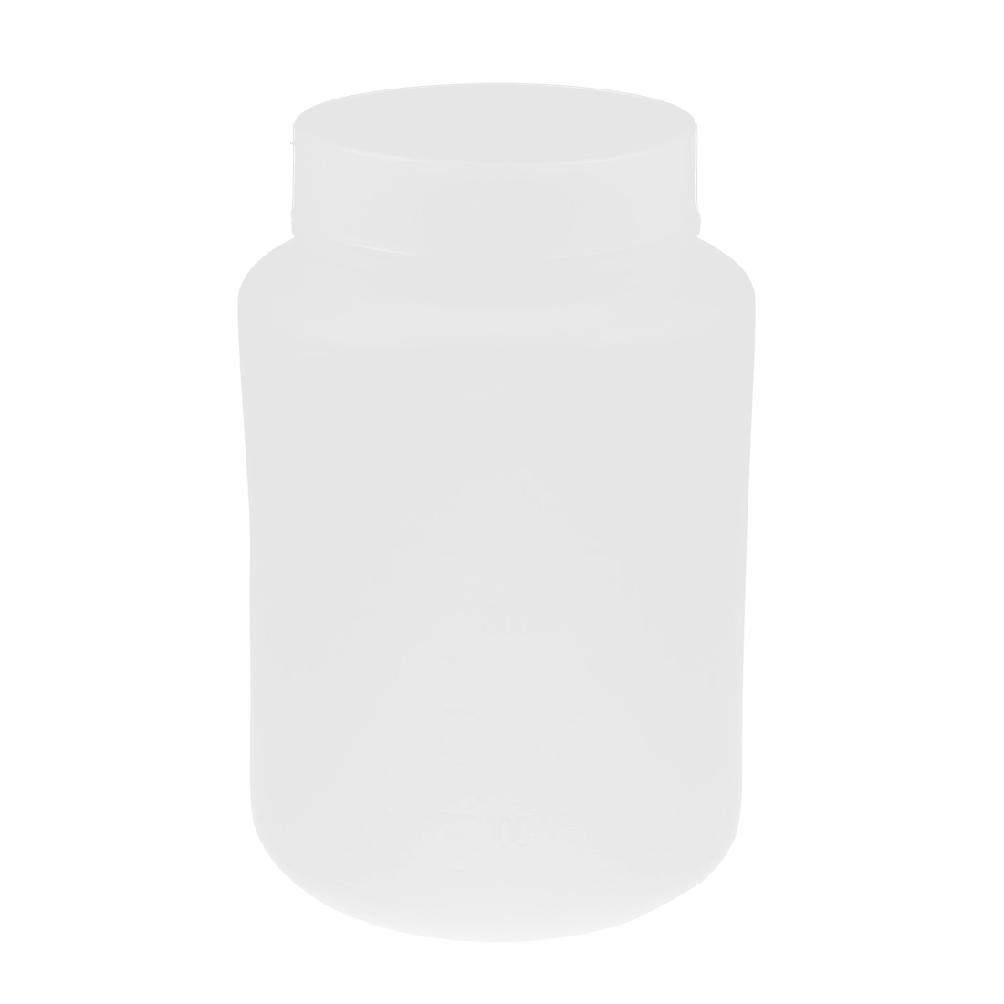 Lab Screw Lid White Plastic Wide Mouth Graduated Chemicals Storage Container Reagent Bottle 500mL