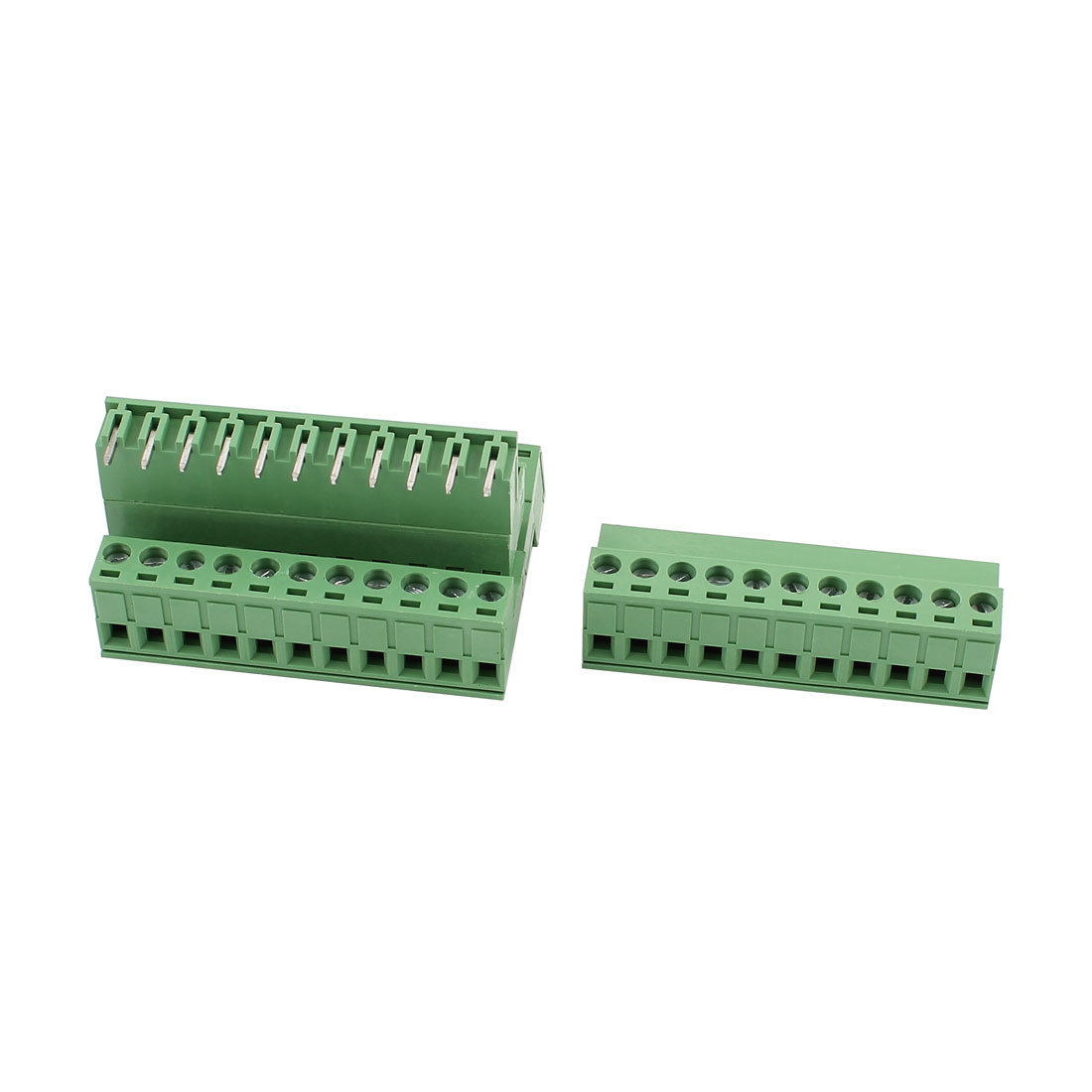 4 Pcs AC 300V 10A 11 Pins PCB Screw Terminal Block Connector 5.08mm Pitch Green