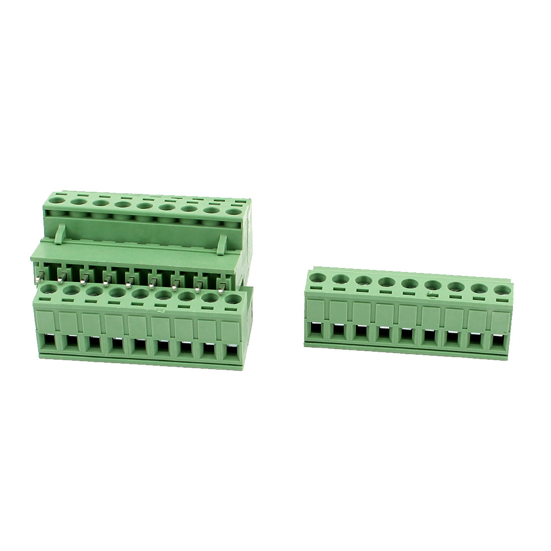 4 Pcs AC 300V 10A 9 Pins PCB Screw Terminal Block Connector 5.08mm Pitch Green
