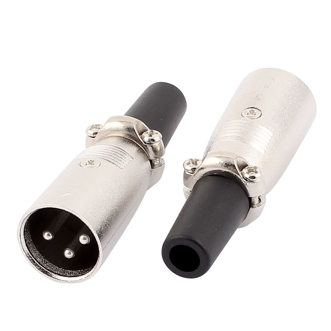 2pcs Microphone Speaker 60mm 3 Terminals XLR Male Audio Cable Connector