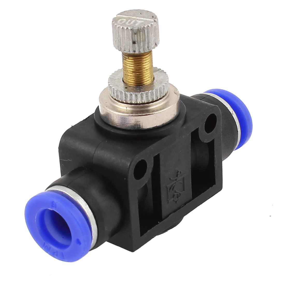 Push In Type 8mmx8mm Tube Speed Control Quick Connector Pneumatic Fitting