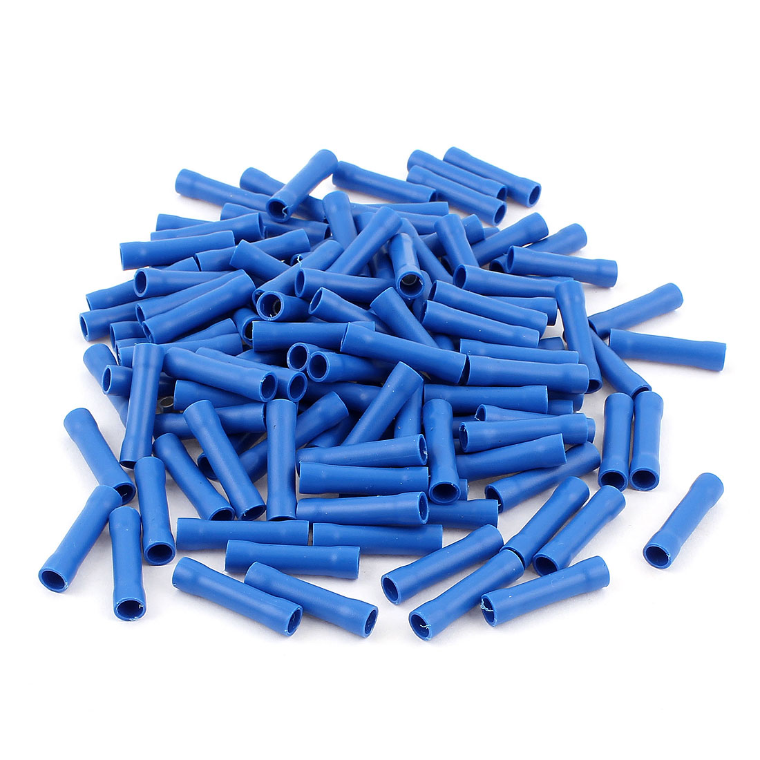 125 Pcs Dual Ends Blue Plastic Fully Insulated Female Crimp Wiring Terminal Cable Connector for AWG16-14 Wire