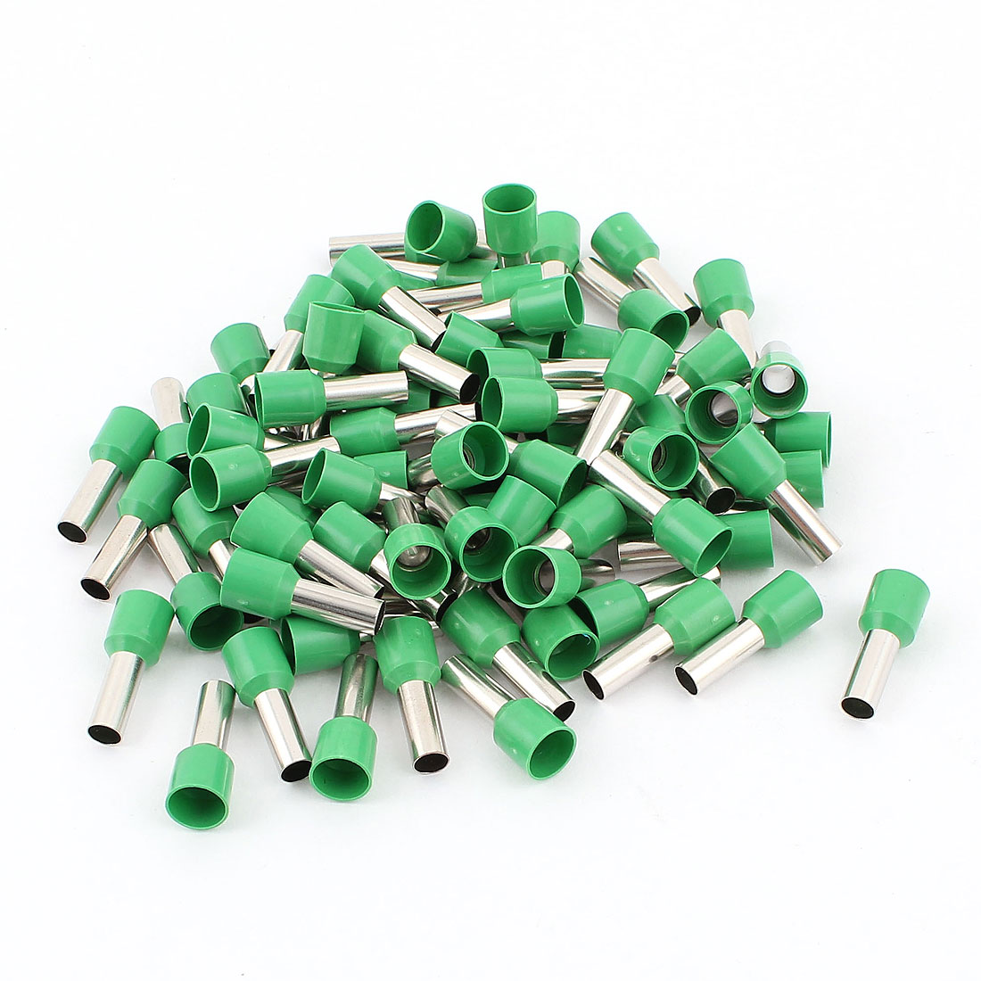 80Pcs E1012 Green Plastic Tube Pre Insulated Bootlace Ferrules Terminals Cable Connector for 8AWG Wire
