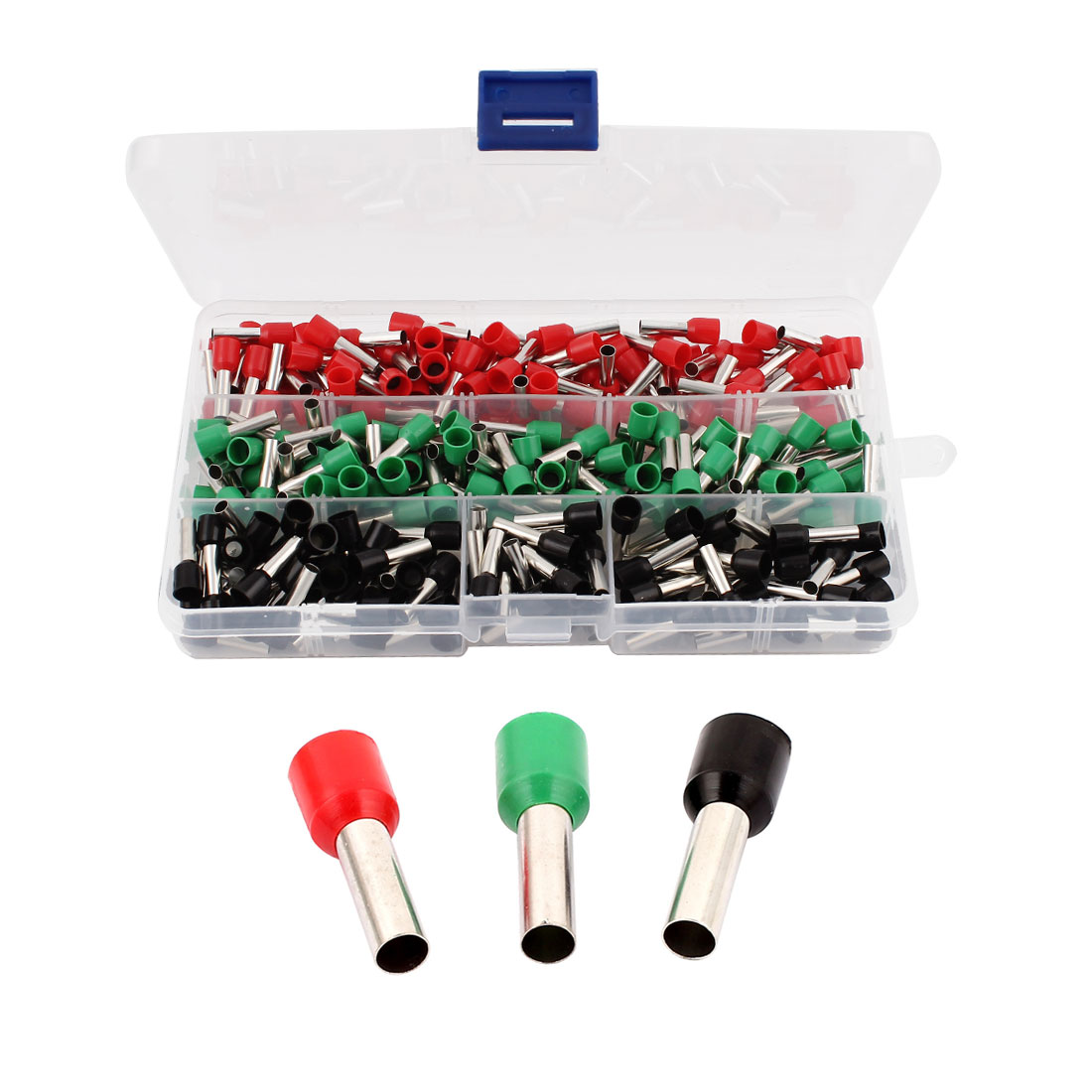 240Pcs E6012 Green Black Red Plastic Tube Wiring Insulated Bootlace Ferrules Terminals Cable Connector for 10AWG Wire