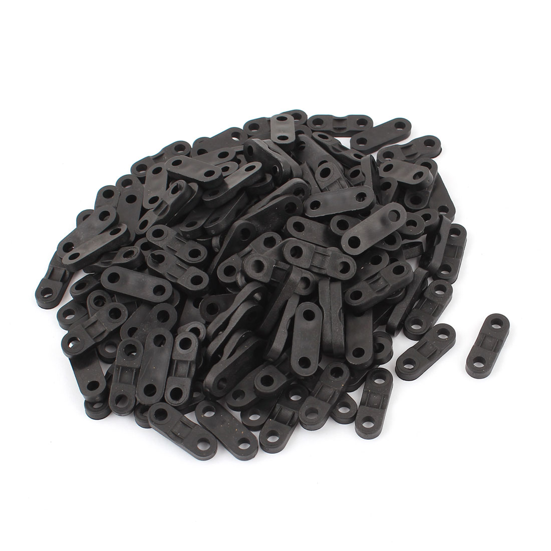 160pcs Black Plastic Cable Clamp Saddle Wire Tie Mount Screw Fixed Base Fastener