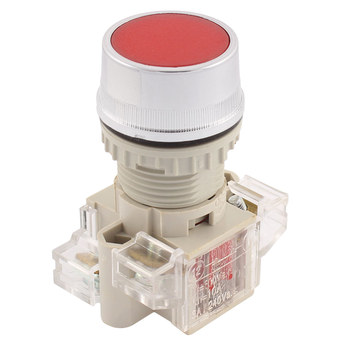 AC 600V 10A DPST 1NO+1NC Momentary Action Push Button Switch