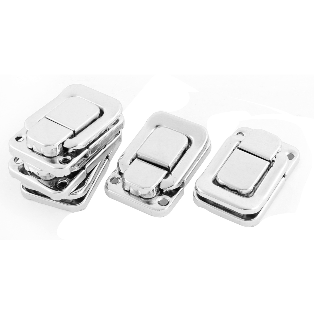 Chest Boxes Trinket Cases Trunk Metal Clasp Toggle Catch Latch Silver Tone 5pcs
