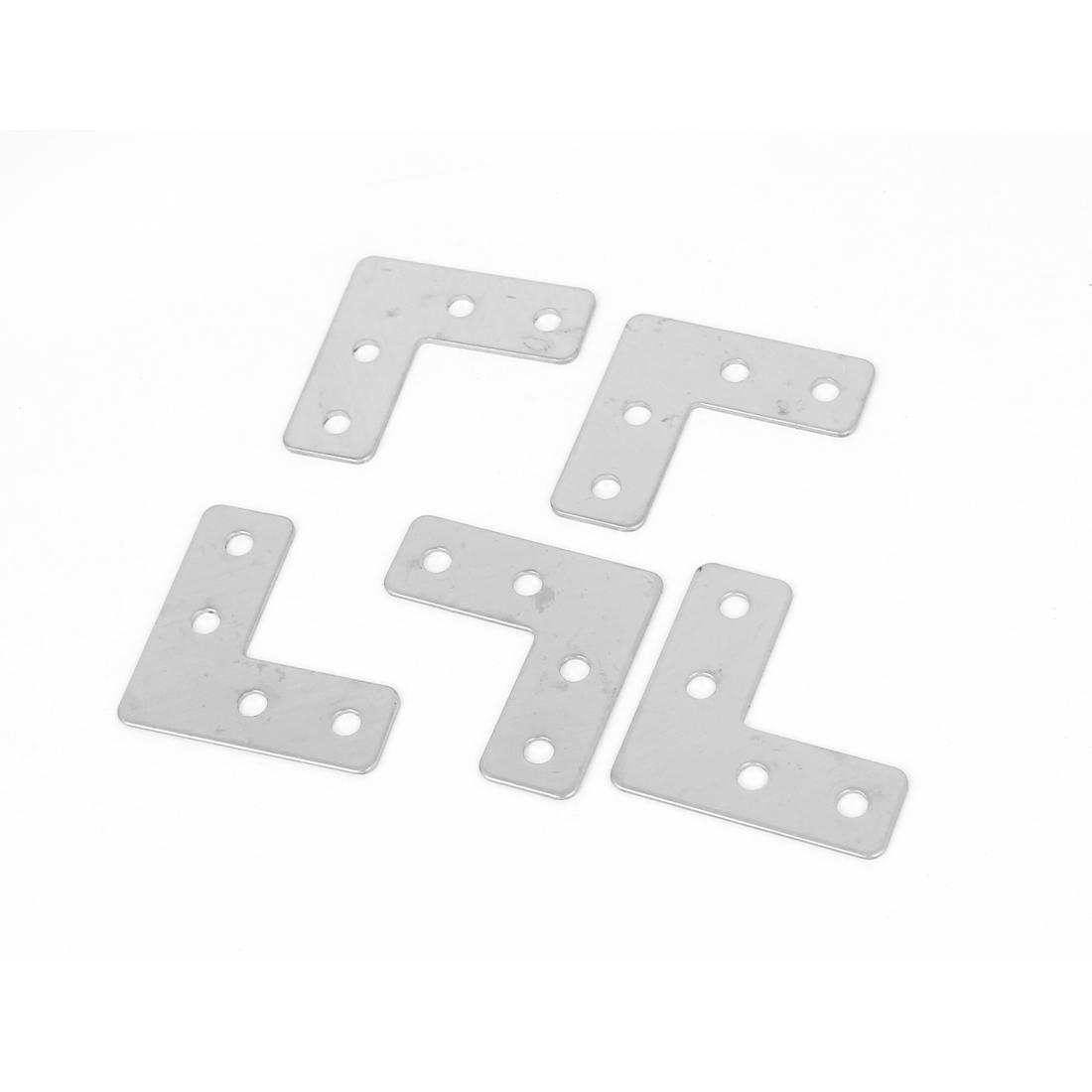 Furniture 40mmx40mm L Shape Right Angle Flat Plate Corner Brace Bracket 5Pcs