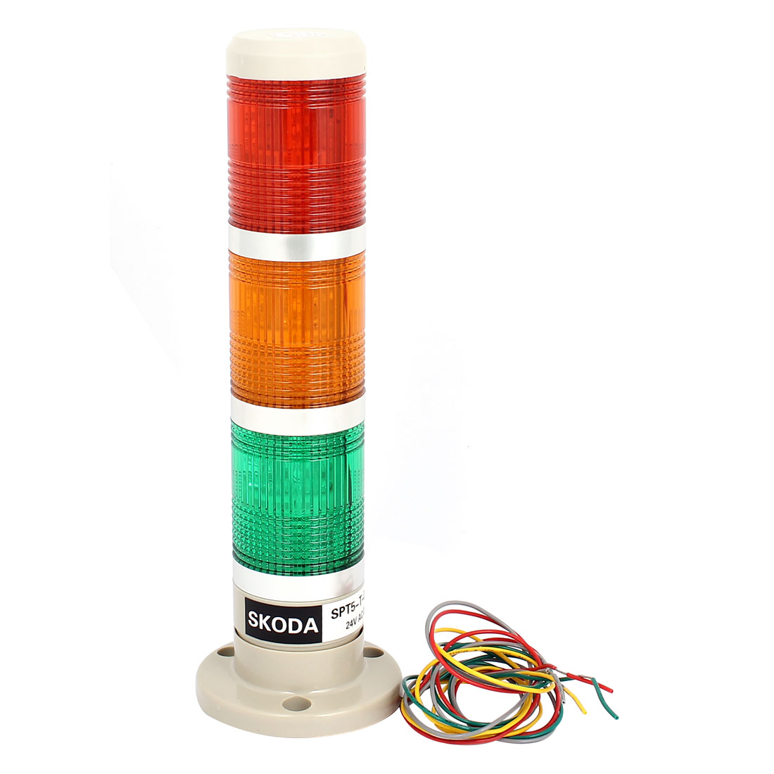 AC/DC 24V Green Red Yellow Signal Tower Lamp Industrial Warning Stack Light