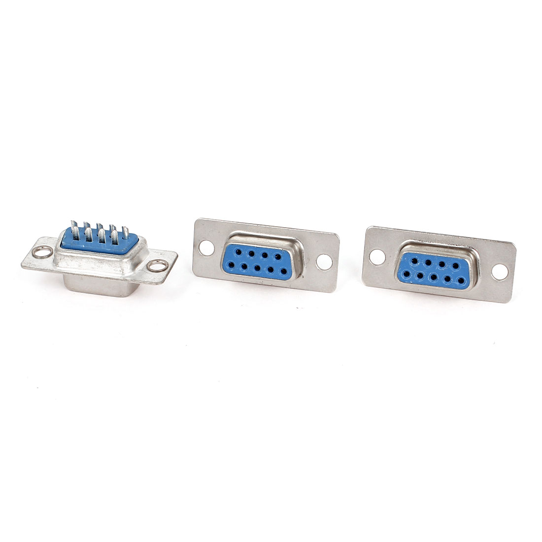 3pcs RS232 DB9 9 Pin Female Port DIP Mount VGA Socket Connector Adapter