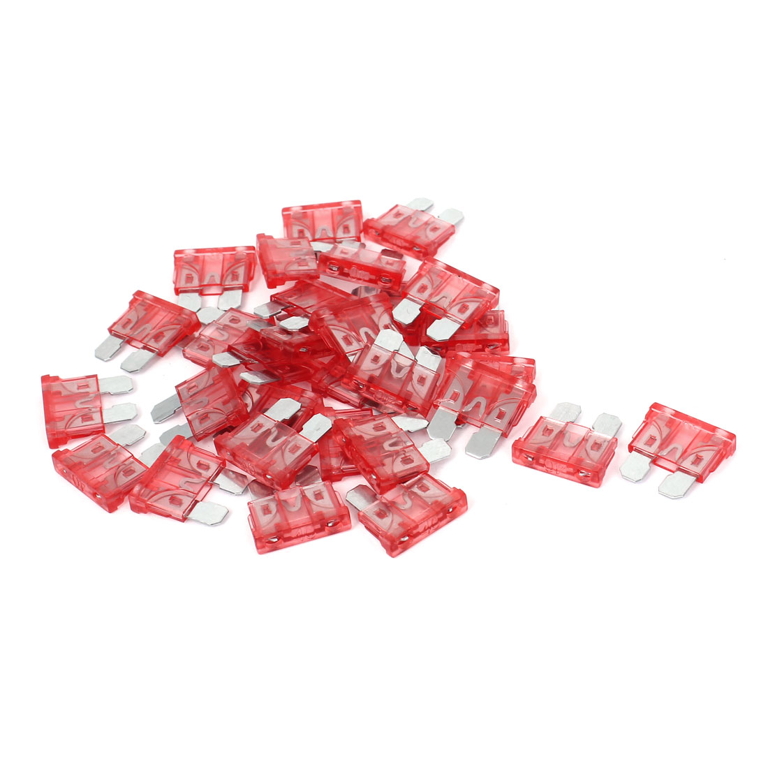 30Pcs 40A Plastic Housing Motorcycle Car SUV ATC ATO Mini Blade Fuse Red