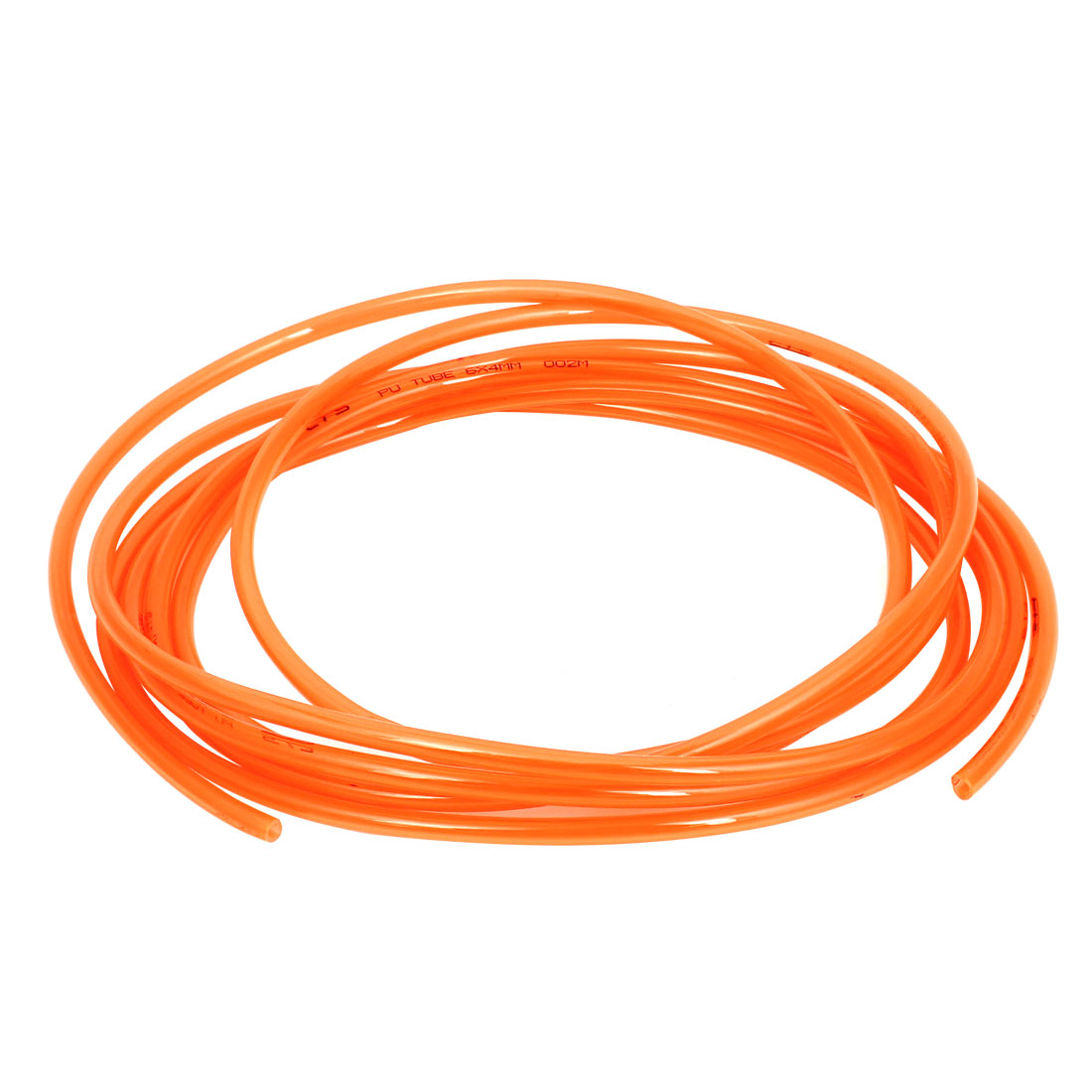 4M 13Ft Long 6mmx4mm Air Fuel Gas Polyurethane Flexible PU Hose Tube Pipe Orange