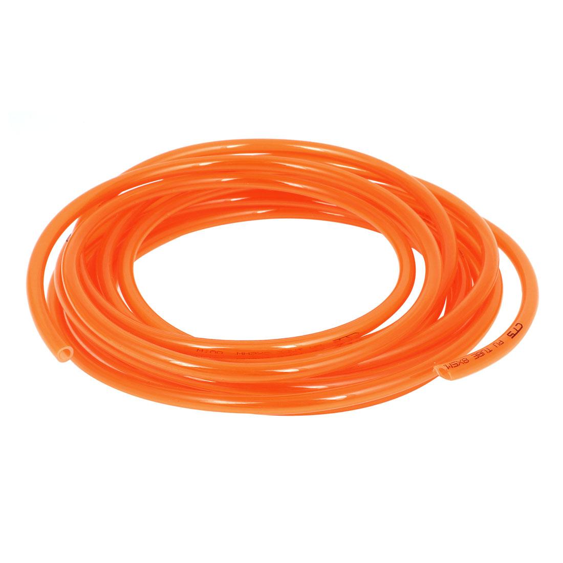 6M Long 8mmx5mm Air Fuel Gas Polyurethane Flexible PU Hose Tube Pipe Orange
